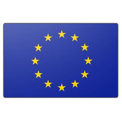Tafelvlag Europese unie zonder mastje (10x15cm)