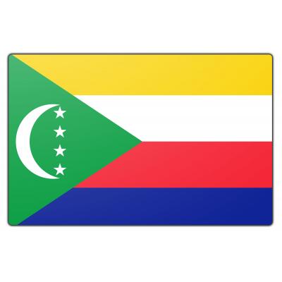 Tafelvlag Comoren zonder mastje (10x15cm)