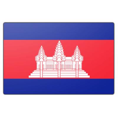 Tafelvlag Cambodja zonder mastje (10x15cm)