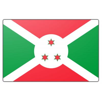 Tafelvlag Burundi zonder mastje (10x15cm)
