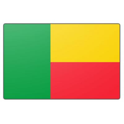 Tafelvlag Benin zonder mastje (10x15cm)