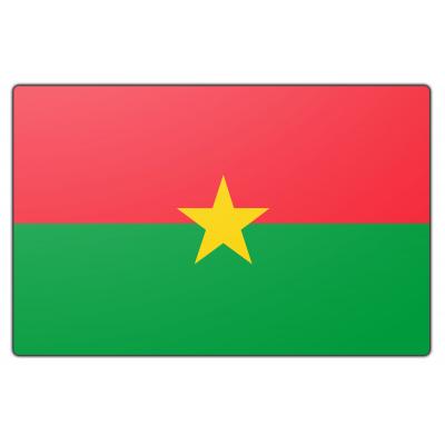 Tafelvlag Burkina Faso zonder mastje (10x15cm)