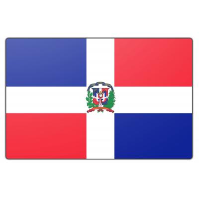 Tafelvlag Dominicaanse Republiek zonder mastje (10x15cm)
