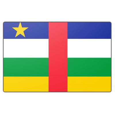 Tafelvlag Centraalafrikaanse Republiek zonder mastje (10x15cm)