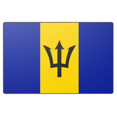 Tafelvlag Barbados zonder mastje (10x15cm)