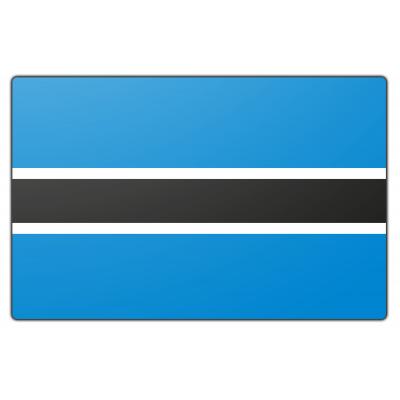 Tafelvlag Botswana zonder mastje (10x15cm)