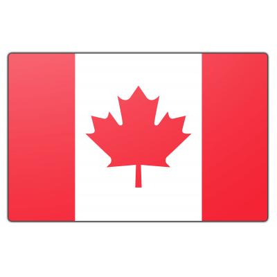 Tafelvlag Canada zonder mastje (10x15cm)