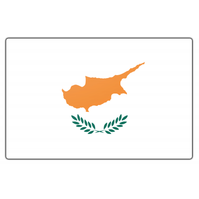 Tafelvlag Cyprus zonder mastje (10x15cm)