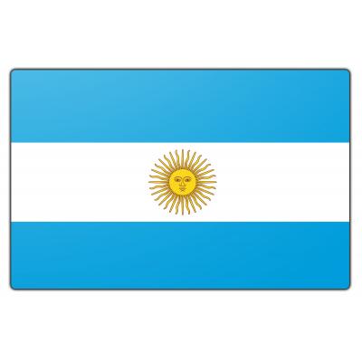 Tafelvlag Argentinië zonder mastje (10x15cm)