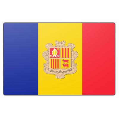 Tafelvlag Andorra zonder mastje (10x15cm)