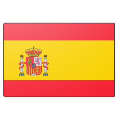 Tafelvlag Spanje zonder mastje (10x15cm)