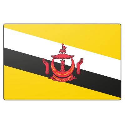 Tafelvlag Brunei zonder mastje (10x15cm)