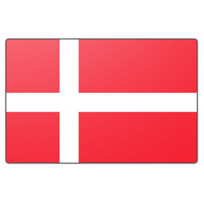 Tafelvlag Denemarken zonder mastje (10x15cm)