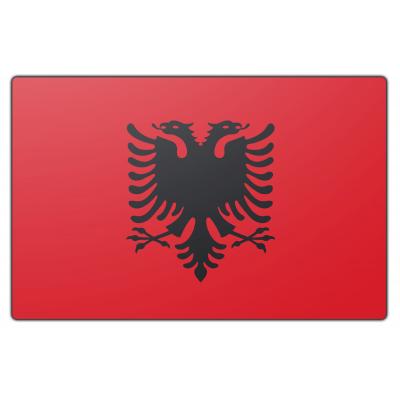 Tafelvlag Albanië zonder mastje (10x15cm)
