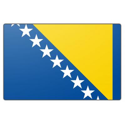 Tafelvlag Bosnië Herzegovina zonder mastje (10x15cm)