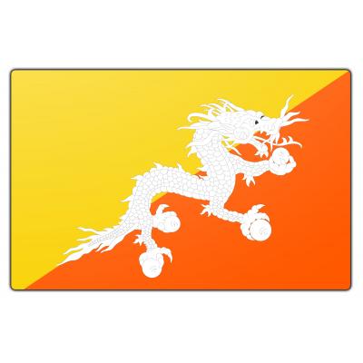 Tafelvlag Bhutan zonder mastje (10x15cm)