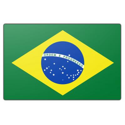 Tafelvlag Brazilië zonder mastje (10x15cm)