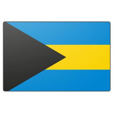 Tafelvlag Bahama eilanden zonder mastje (10x15cm)