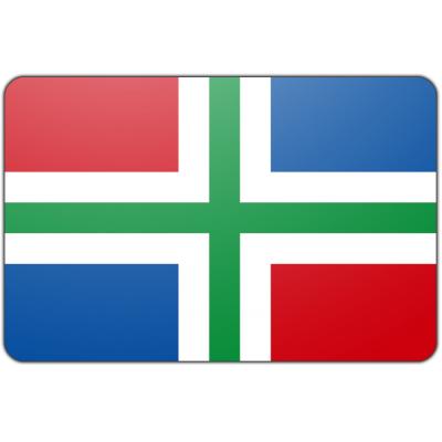 Tafelvlag Groningen zonder mastje (10x15cm)