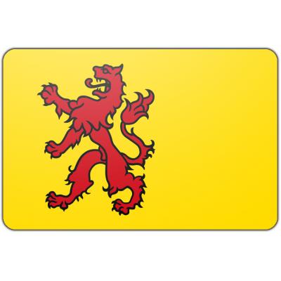 Tafelvlag Zuid Holland zonder mastje (10x15cm)