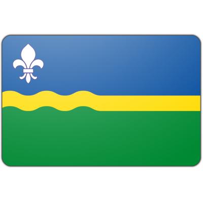 Tafelvlag Flevoland zonder mastje (10x15cm)