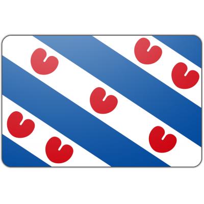 Tafelvlag Friesland zonder mastje (10x15cm)